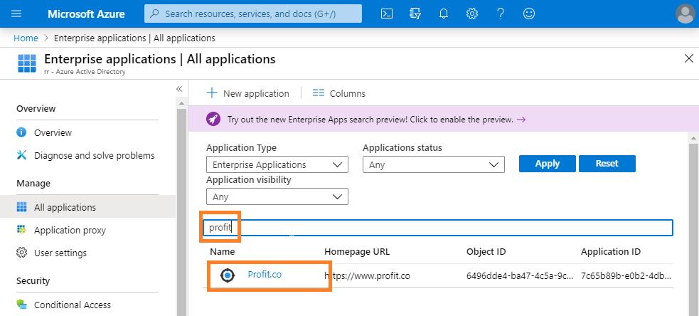Azure Application Visibiblity