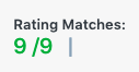Rating matches