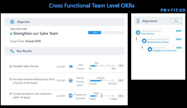 Cross Functional Team OKRs