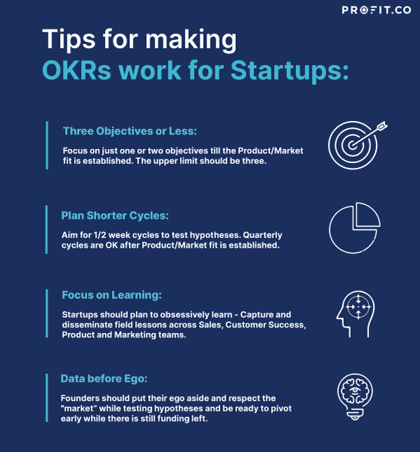 Tips for making OKRs work for Startups