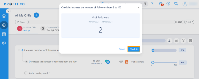 Increase number of followers Popup