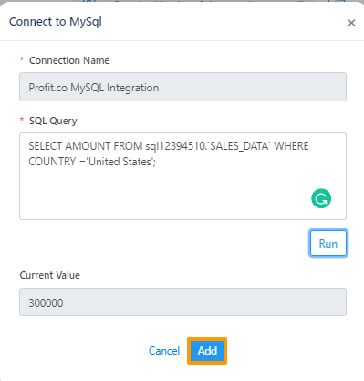 Mysql add
