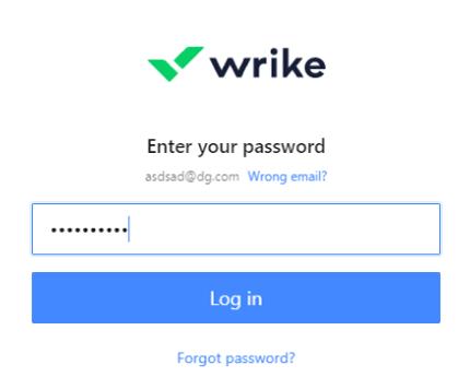 Enter Wrike password