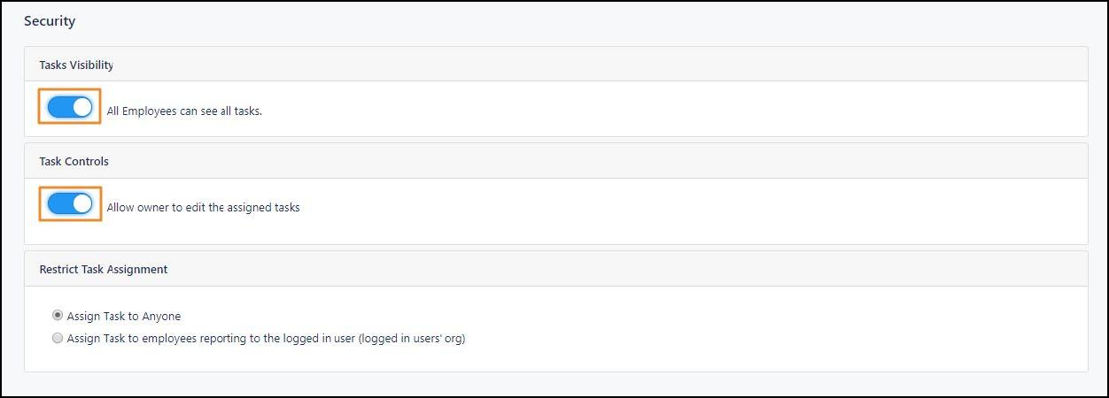 Enable Task Status