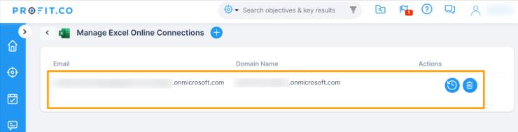Manage Excel Online Connectors
