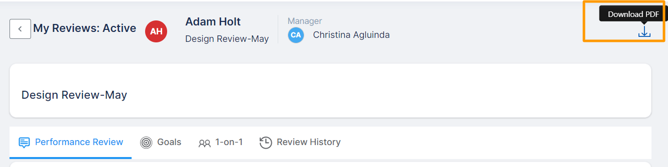 my review active