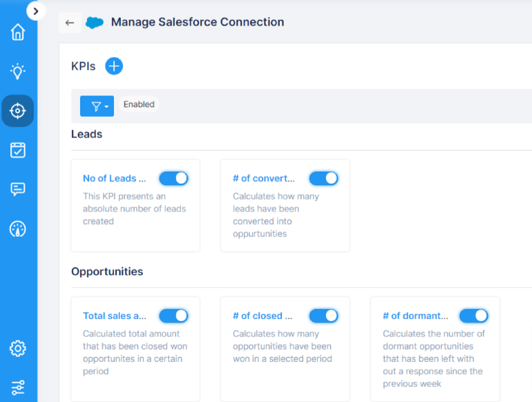 Manage salesforce connector