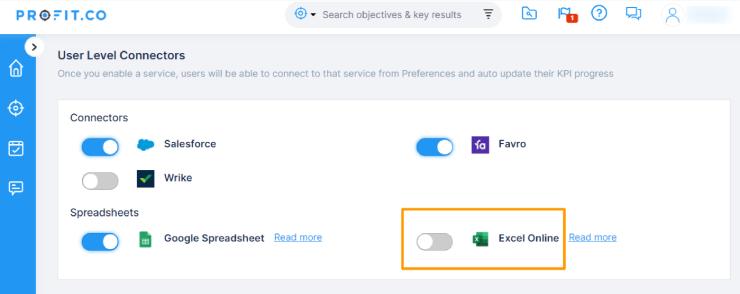 User level Connectors