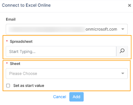 Connect to Excel Online