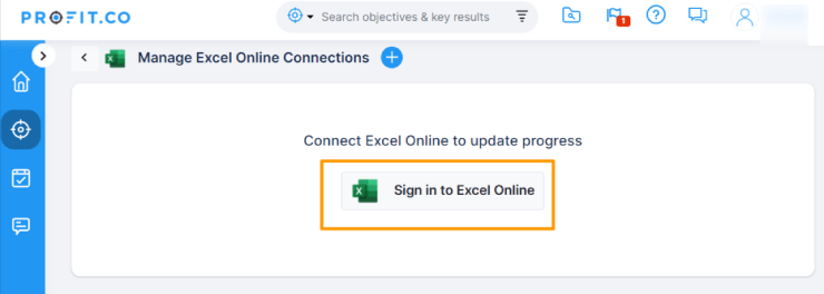 Sign in to Excel Online