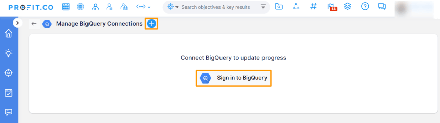 sign in to bigquery