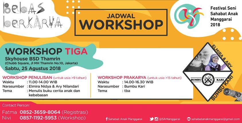 Workshop Bebas Berkarya 3 - SA Manggarai