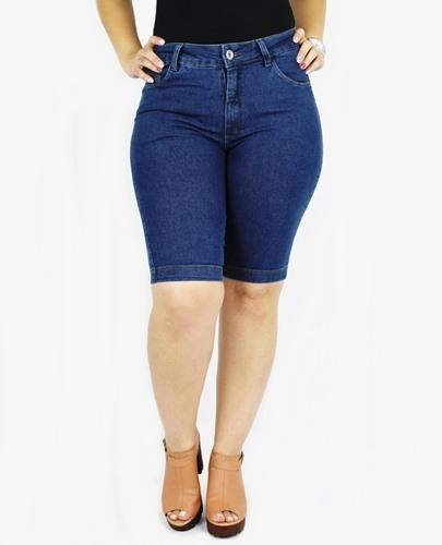 Bermuda Dinho's Jeans Basica Stone Feminina [1141]