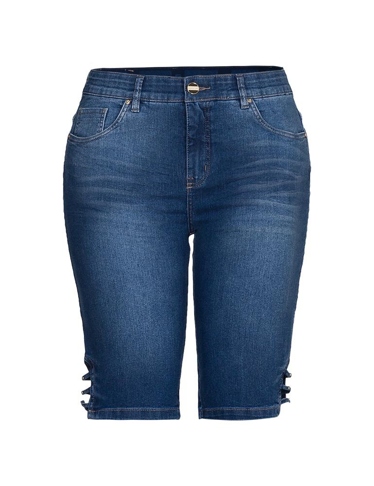 Bermuda Jeans Ciclista Feminina Fact Jeans - Plus Size Ref. 03978