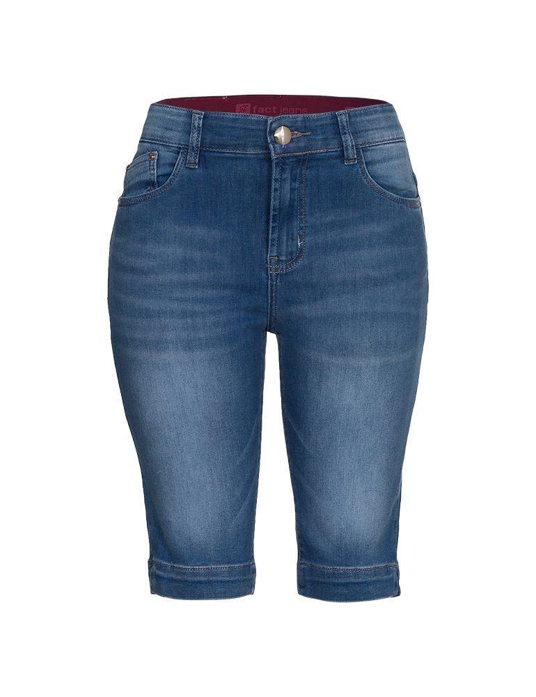 Bermuda Jeans Ciclista Feminina Fact Jeans Ref. 04009