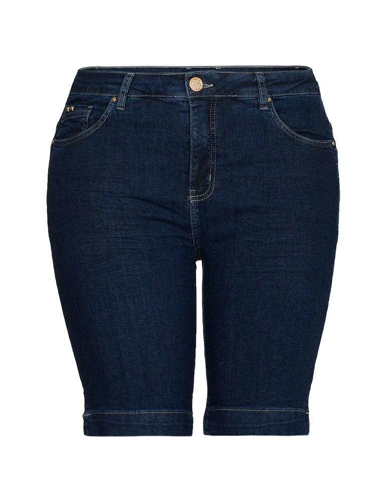 Bermuda Jeans Feminina Fact Jeans - Plus Size Ref. 04086