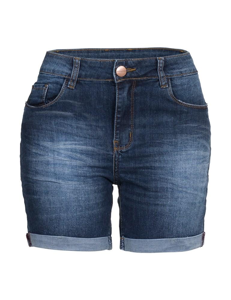 Bermuda Jeans Feminina Meia Coxa Fact Jeans Ref. 04015