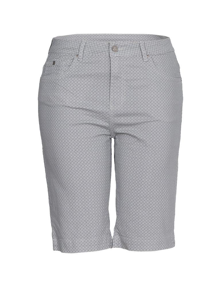 Bermuda Sarja Ciclista Feminina Fact Jeans - Plus Size Ref. 04045