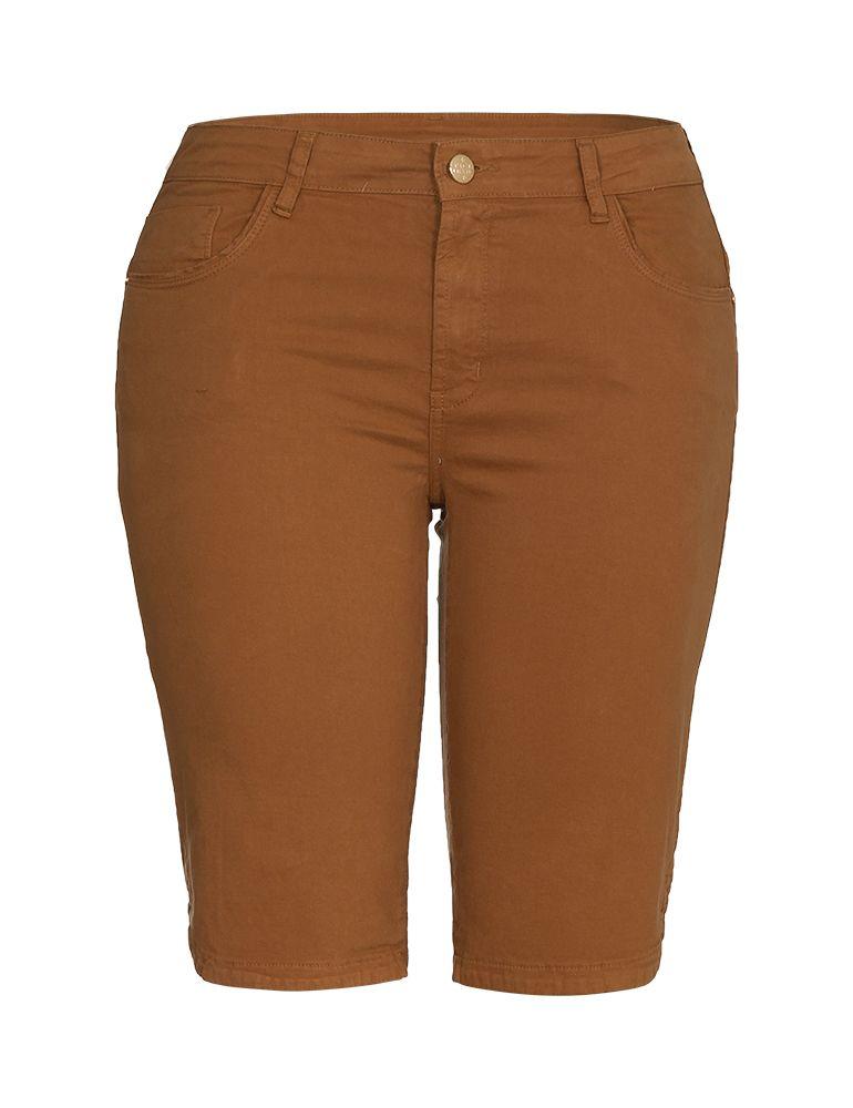 Bermuda Sarja Feminina Fact Jeans - Plus Size Ref. 04100