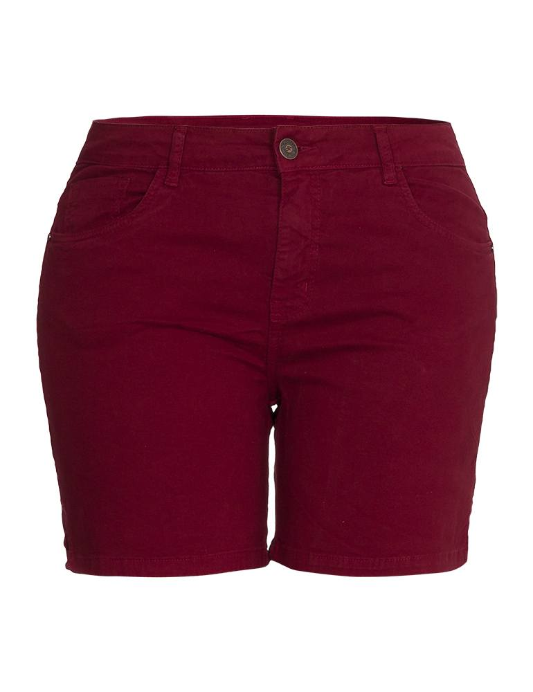 Bermuda Sarja Feminina Meia Coxa Fact Jeans - Plus Size Ref. 04104
