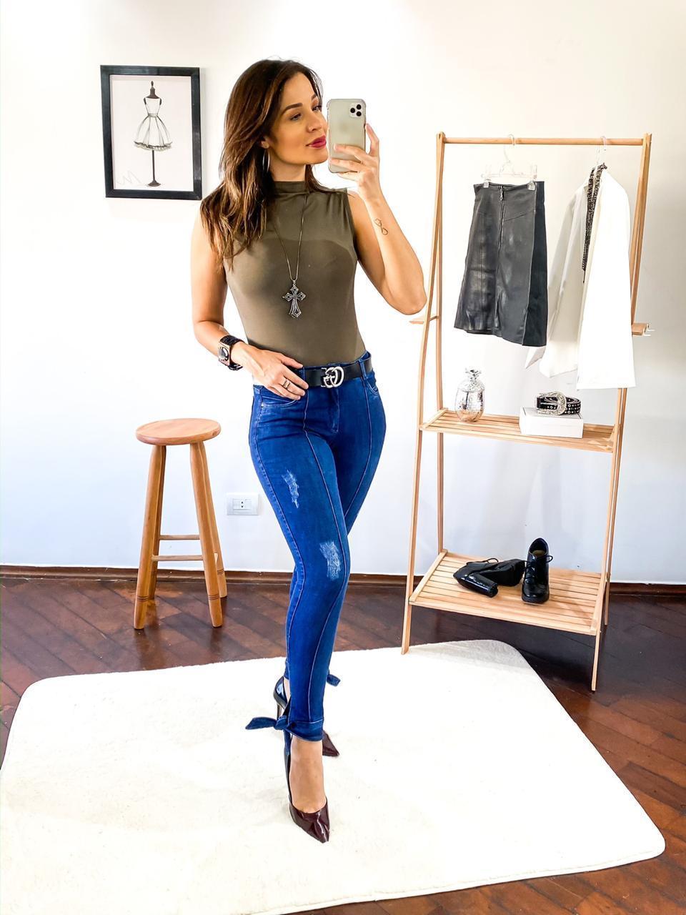 Calça Dinho's Jeans Cropped Paolo Laço (2634)