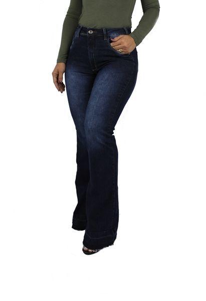 Calça Dinho's Jeans Flare Toledo Barra Desfiada (2552)