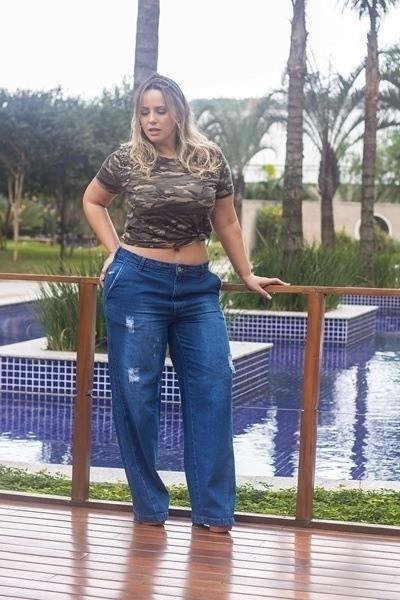 Calça Dinho's jeans Pantalona Escura Veder (2530)