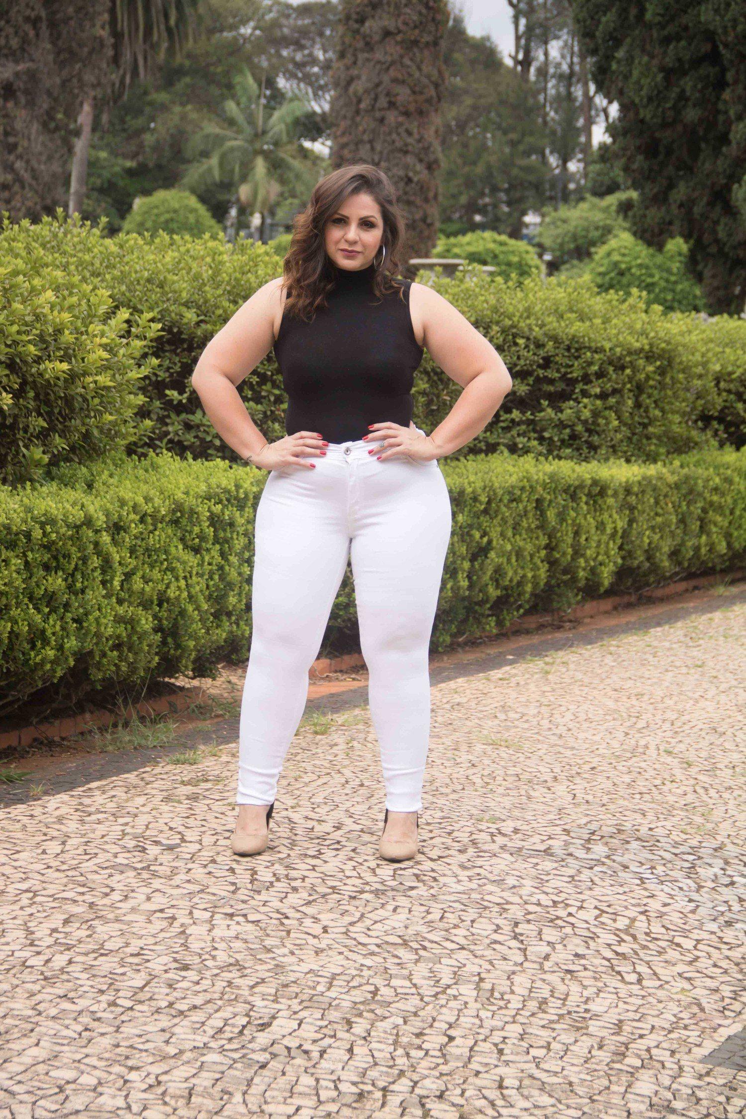 Calça Dinho's Jeans Skinny Branca(2490)