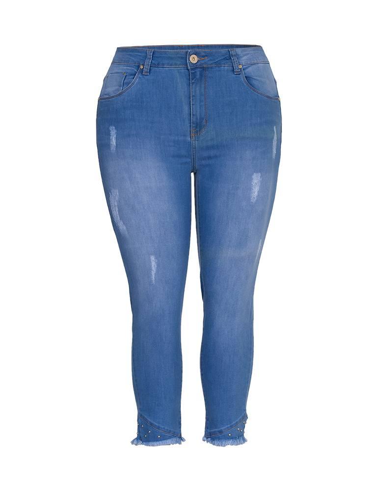 Calça Jeans Capri Feminina Fact Jeans - Plus Size Ref. 03979