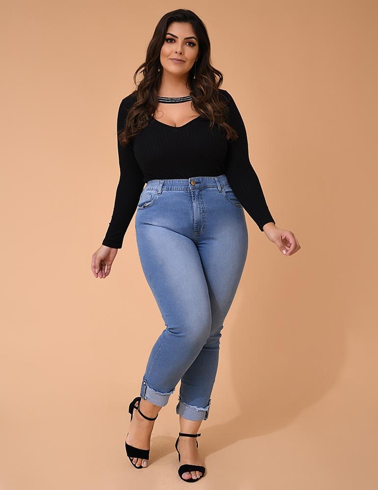 Calça Jeans Capri Feminina Fact Jeans - Plus Size Ref. 04021