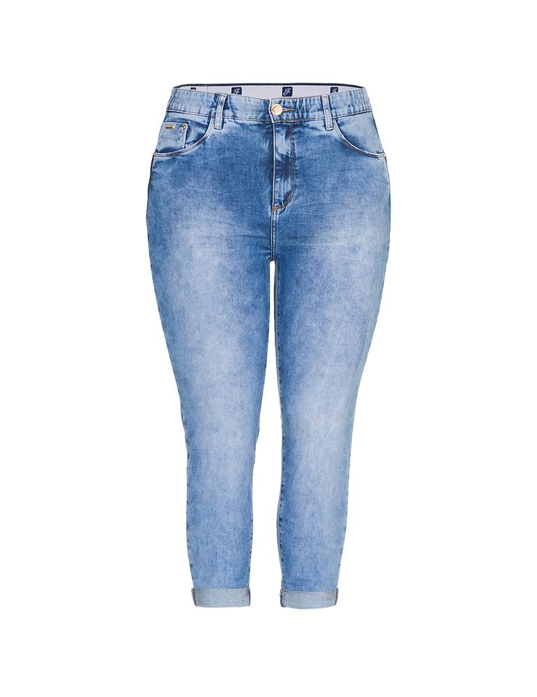 Calça Jeans Capri Feminina Fact Jeans - Plus Size Ref. 04160