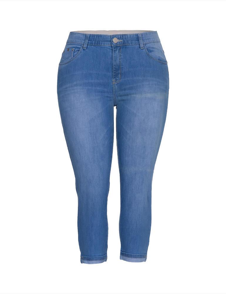 Calça Jeans Capri - Plus Size 3976