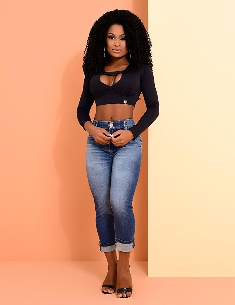 Calça Jeans Cropped Feminina Fact Jeans Ref. 04005
