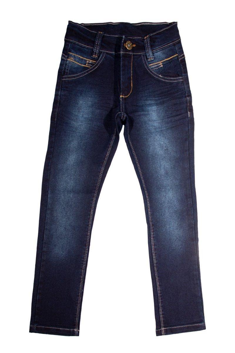 Calça Jeans Infantil Meninos Skinny, Stretch e com Regulador Tamanhos 04, 06 e 08 [Ref 1525]