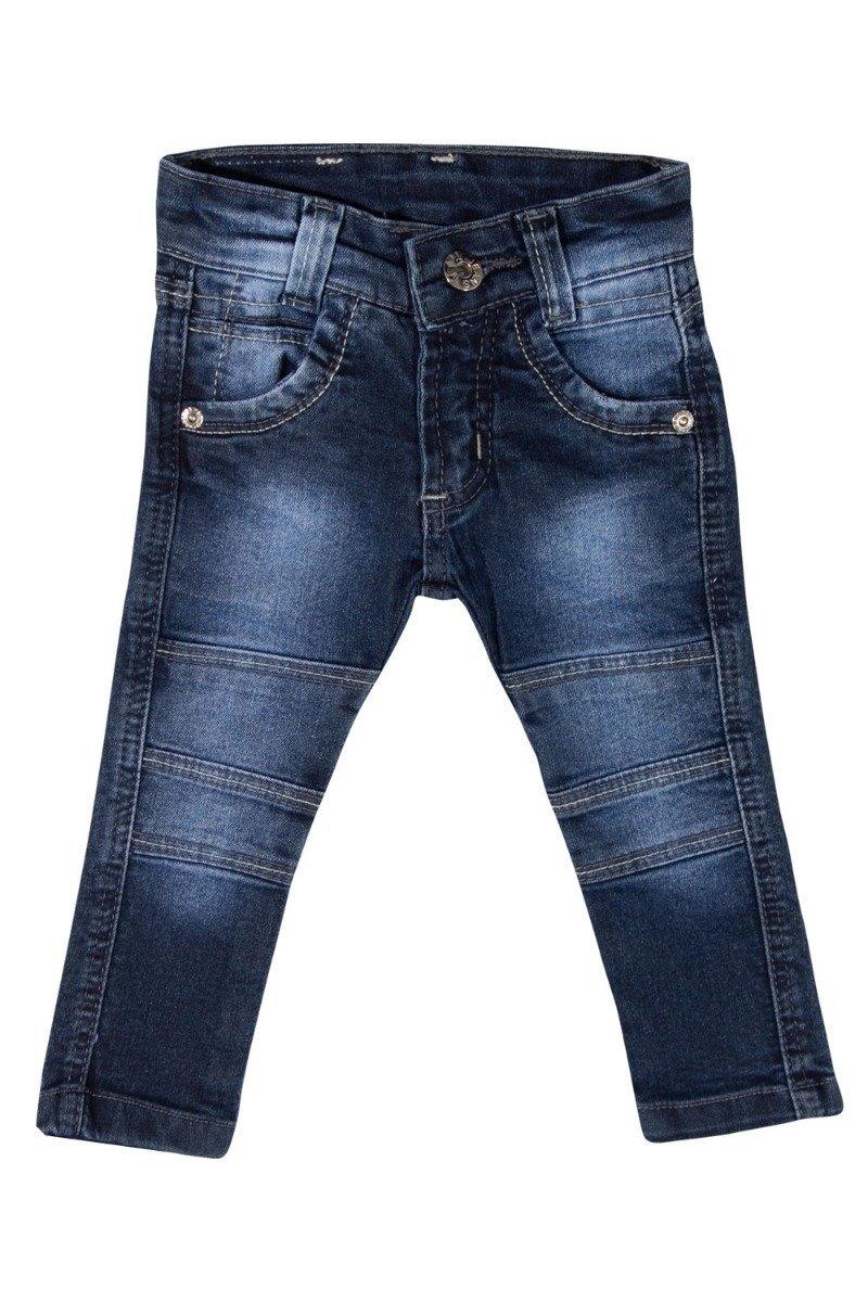 Calça Jeans Meninos Bebê com Regulador Tamanhos 01, 02 e 03 [Ref 1785]