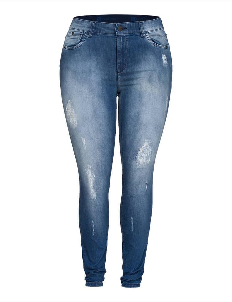 Calça Jeans Skinny Fact Jeans ref. 03956 - Plus Size