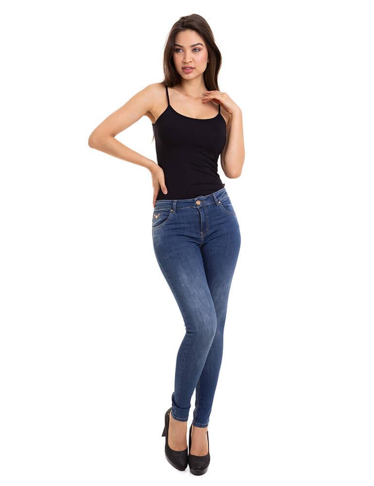 Calça Jeans Skinny Feminina Fact Jeans ref. 03610