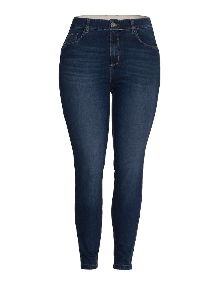 Calça Jeans Skinny Feminina Fact Jeans - Plus Size Ref. 04149