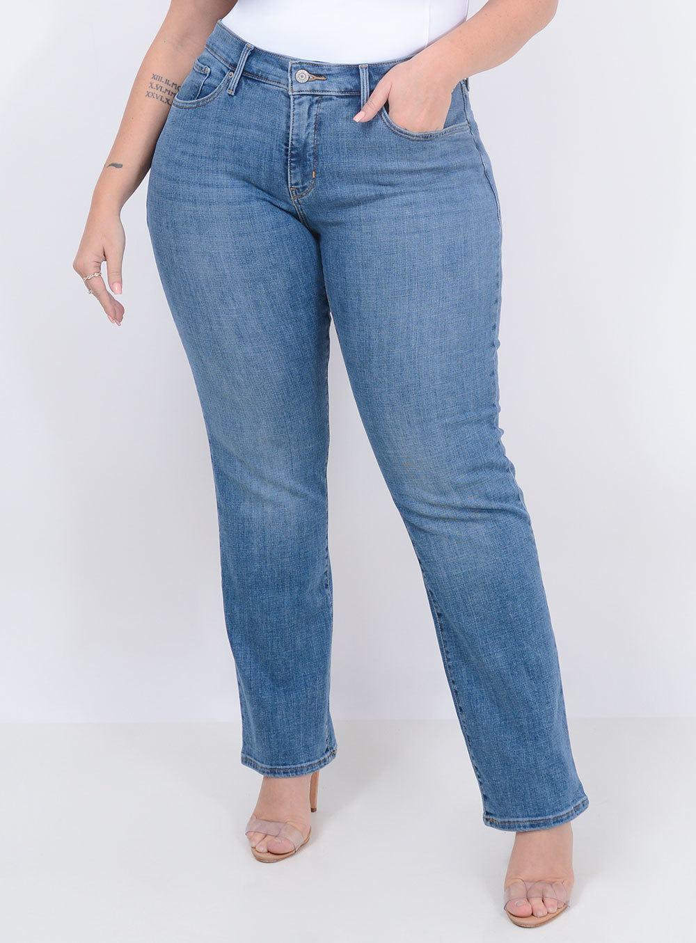 Calça Levi's Jeans Feminina 314 Shaping Straight Índigo ref. LV196410011
