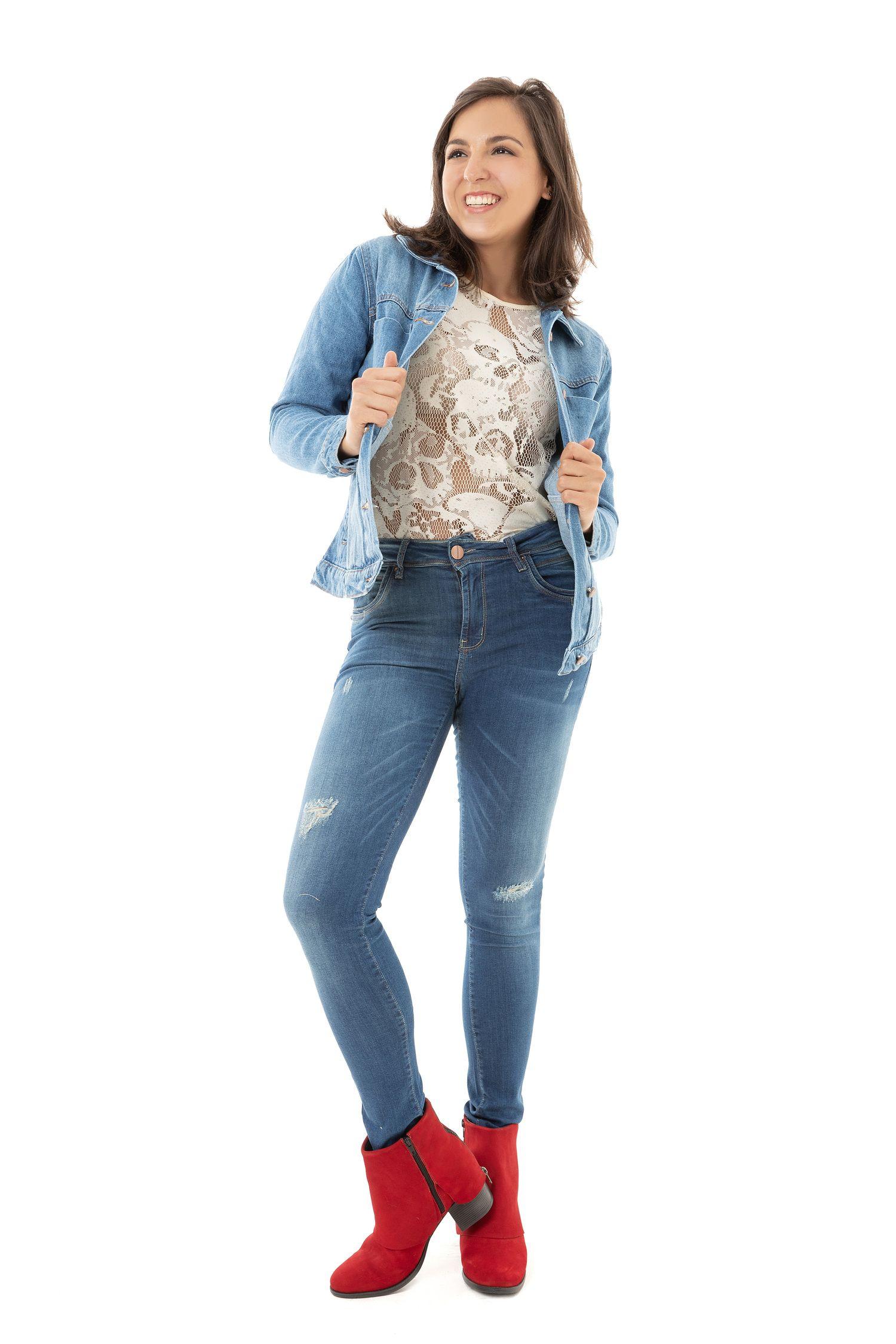 Calça Skinny Feminina Fact Jeans ref. 03333