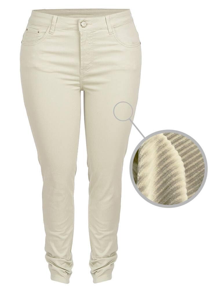 Calça Skinny Feminina Fact Jeans ref. 03713 - Areia
