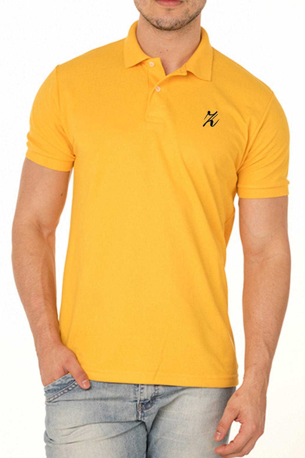 Camisa Polo P.A. Amarelo Ouro