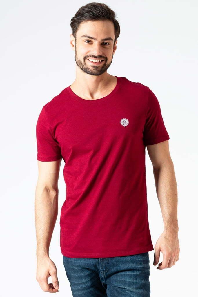 Camiseta Básica Vinho Clássica KSA