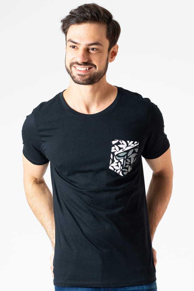 Camiseta Bolso Logo KSA Preta
