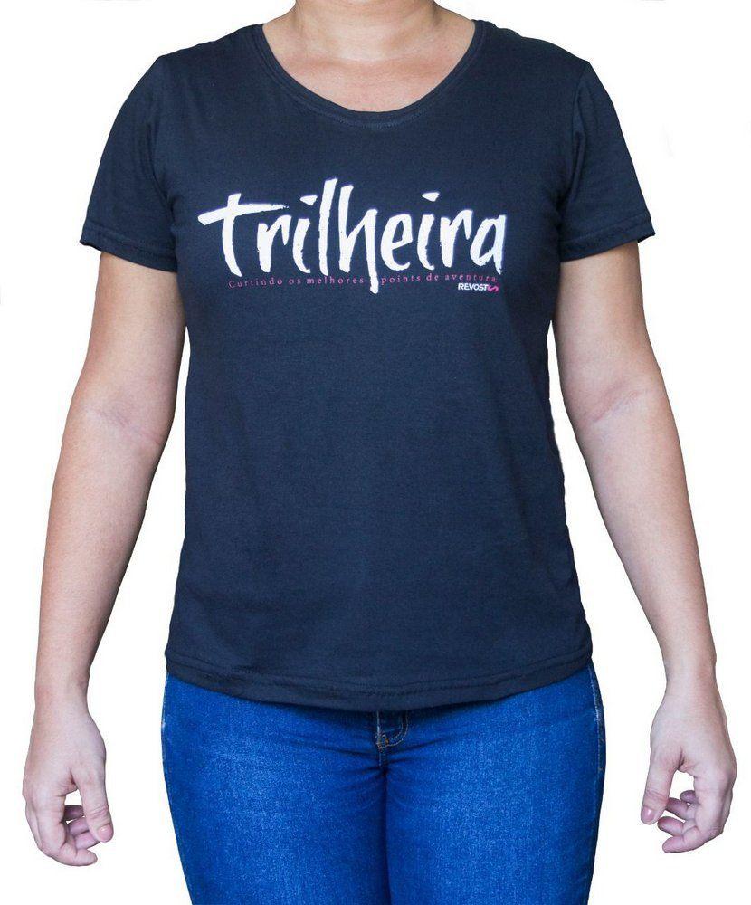 Camiseta Feminina Revost Trilheira - Preto