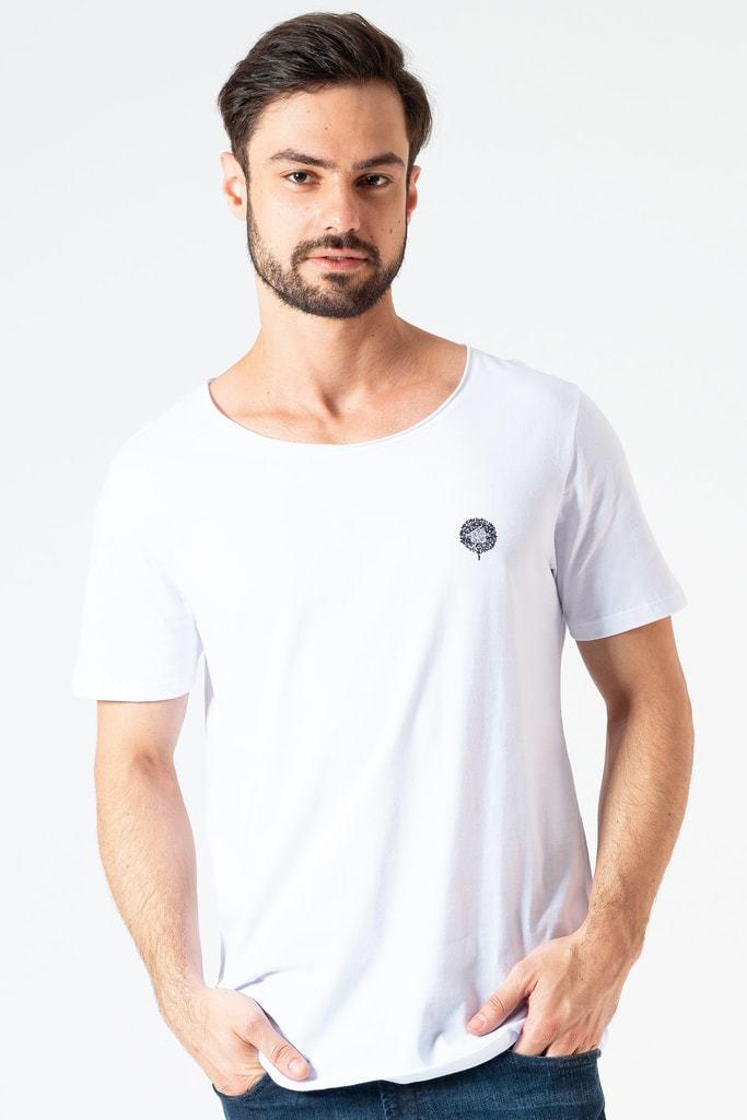 Camiseta Gola Canoa Clássica KSA Branca