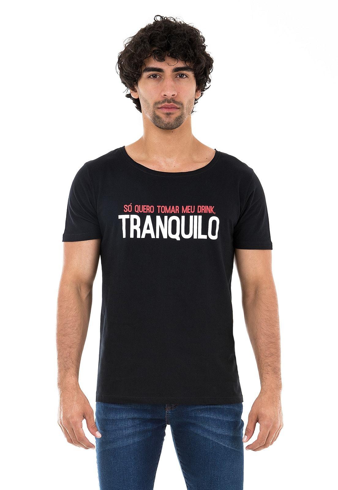 Camiseta Gola Canoa KSA da Árvore Drink Tranquilo