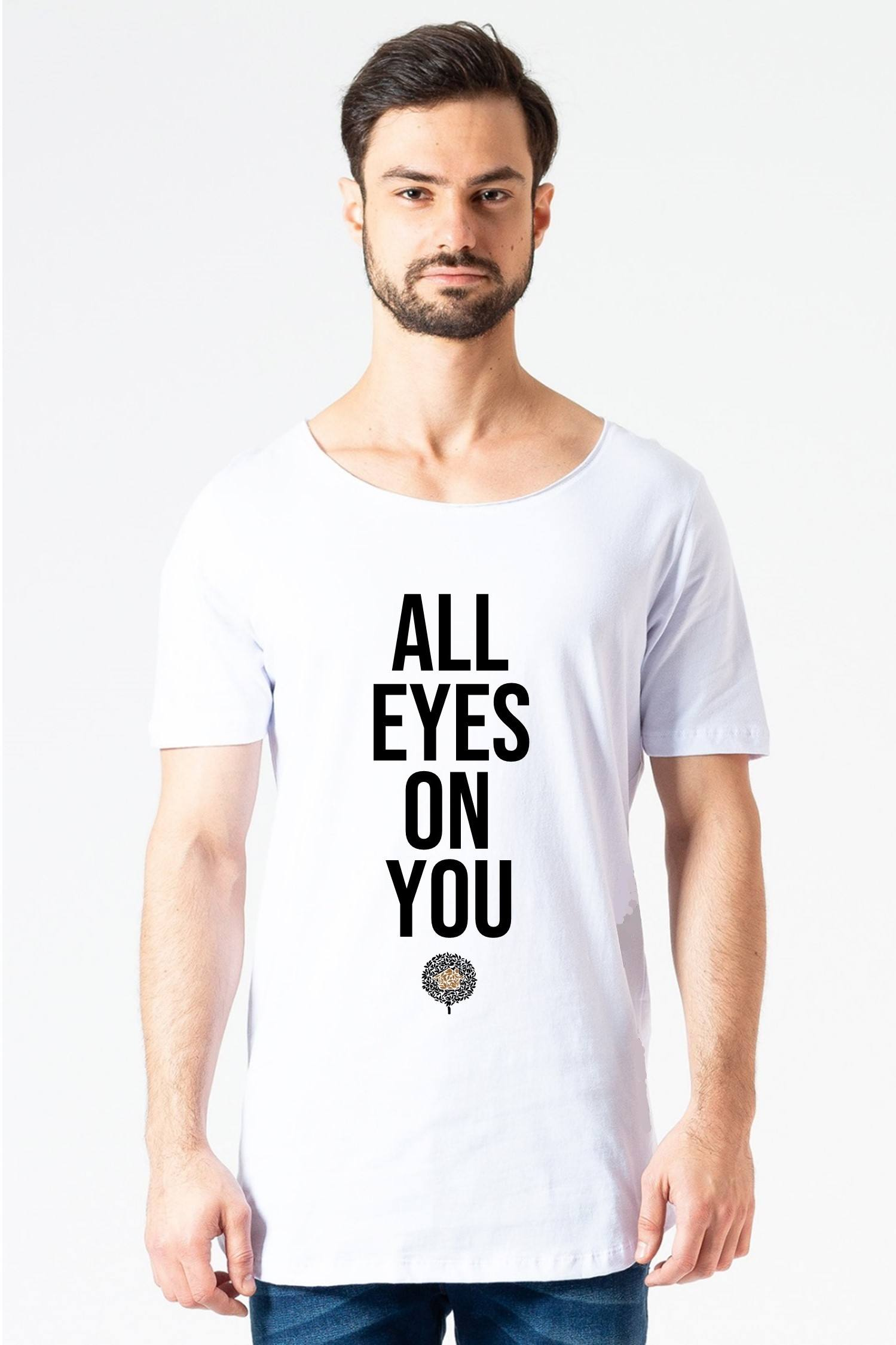 Camiseta Longline All Eyes Branca