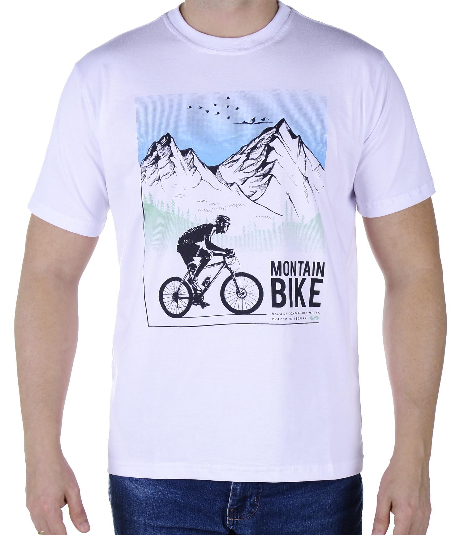Camiseta Masculina Revost Bike - Branco