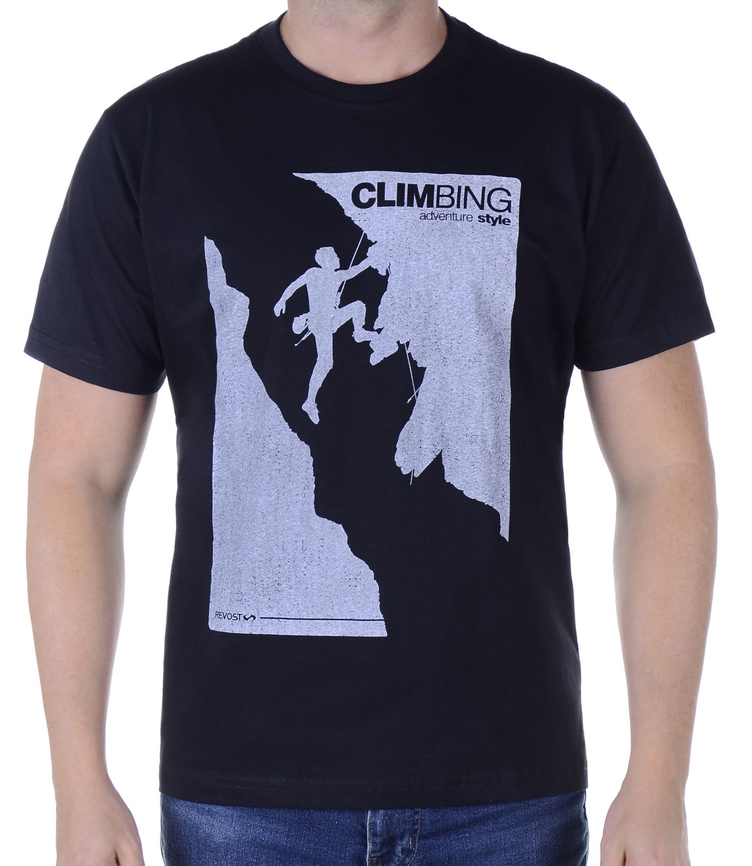 Camiseta Masculina Revost Climbing - Preto